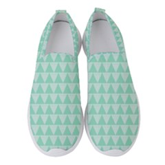 Mint Triangle Shape Pattern Women s Slip On Sneakers