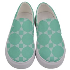 Mint Star Pattern Men s Canvas Slip Ons