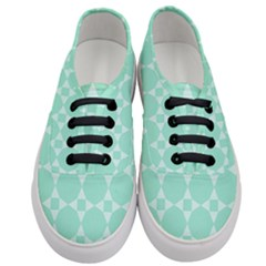 Mint Star Pattern Women s Classic Low Top Sneakers