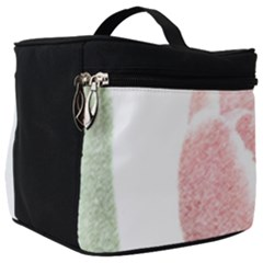 Tulip Red And White Pen Drawing Make Up Travel Bag (big)