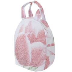 Tulip Red And White Pen Drawing Travel Backpacks