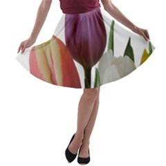 Tulips Bouquet A Line Skater Skirt