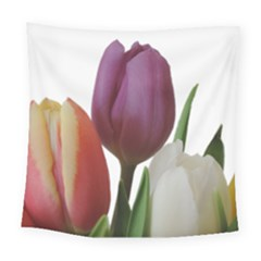 Tulips Bouquet Square Tapestry (large)