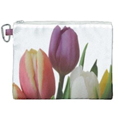 Tulips Bouquet Canvas Cosmetic Bag (xxl) by picsaspassion