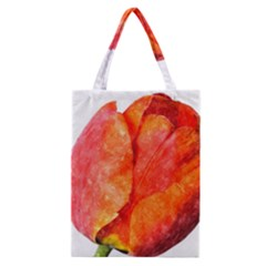 Red Tulip, Watercolor Art Classic Tote Bag