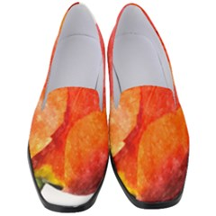 Red Tulip, Watercolor Art Women s Classic Loafer Heels by picsaspassion