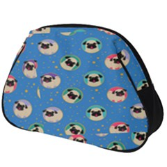 Pugs In Circles With Stars Full Print Accessory Pouch (big)