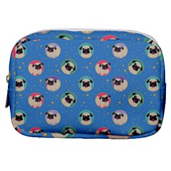 Pugs In Circles With Stars Make Up Pouch (small)