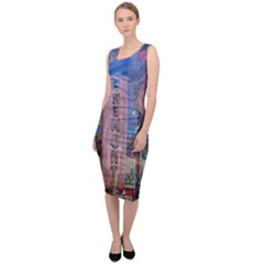 Las Vegas Strip Walking Tour Sleeveless Pencil Dress