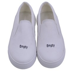 Horror Skeleton Material Kids  Canvas Slip Ons