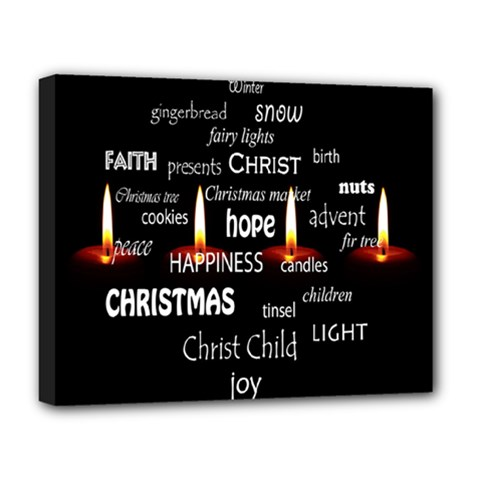 Candles Christmas Advent Light Deluxe Canvas 20  X 16  (stretched)