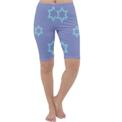 Star Christmas Night Seamlessly Cropped Leggings