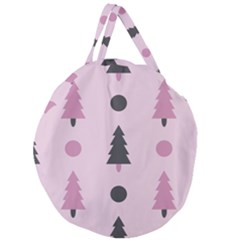 Christmas Trees Tree Fir Den Giant Round Zipper Tote