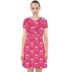 Christmas Red Pattern Reasons Adorable In Chiffon Dress