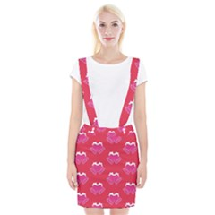 Christmas Red Pattern Reasons Braces Suspender Skirt