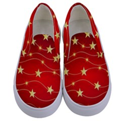 Background Christmas Decoration Kids  Canvas Slip Ons