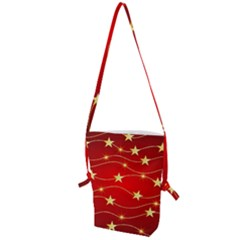 Background Christmas Decoration Folding Shoulder Bag by Wegoenart