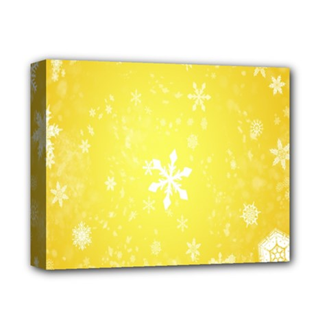 Snowflakes The Background Snow Deluxe Canvas 14  X 11  (stretched)