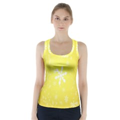 Snowflakes The Background Snow Racer Back Sports Top by Wegoenart