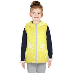 Snowflakes The Background Snow Kid s Hooded Puffer Vest by Wegoenart