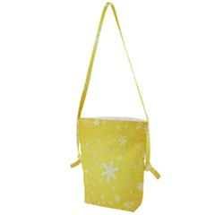 Snowflakes The Background Snow Folding Shoulder Bag by Wegoenart