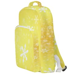 Snowflakes The Background Snow Double Compartment Backpack
