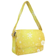 Snowflakes The Background Snow Courier Bag