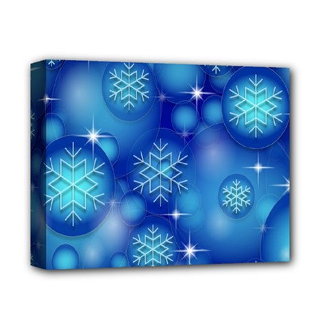 Blue Background Christmas Deluxe Canvas 14  X 11  (stretched)