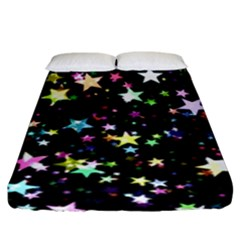 Wallpaper Star Advent Christmas Fitted Sheet (king Size)