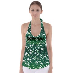 Christmas Star Advent Background Babydoll Tankini Top