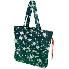 Christmas Star Advent Background Drawstring Tote Bag by Wegoenart