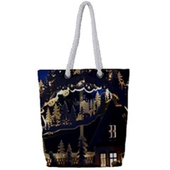 Christmas Advent Candle Arches Full Print Rope Handle Tote (small)