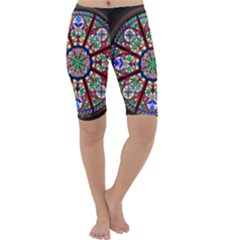 Church Window Window Rosette Cropped Leggings