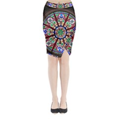 Church Window Window Rosette Midi Wrap Pencil Skirt