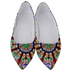Church Window Window Rosette Women s Low Heels
