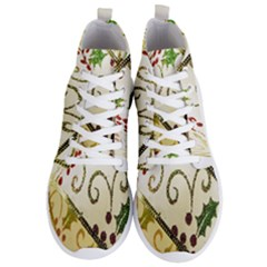 Christmas Ribbon Background Men s Lightweight High Top Sneakers by Wegoenart