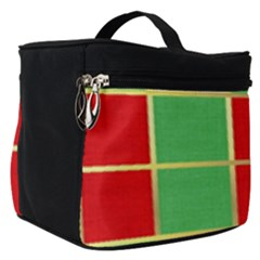 Christmas Fabric Textile Red Green Make Up Travel Bag (small)