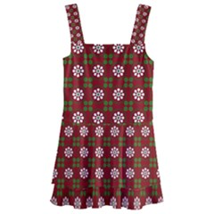 Christmas Paper Wrapping Pattern Kids  Layered Skirt Swimsuit