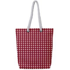 Christmas Paper Wrapping Paper Full Print Rope Handle Tote (small)