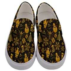 Christmas Background Men s Canvas Slip Ons