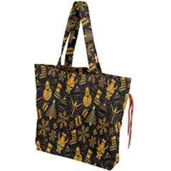 Christmas Background Drawstring Tote Bag