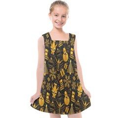 Christmas Background Kids  Cross Back Dress