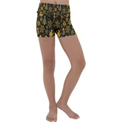 Christmas Background Kids  Lightweight Velour Yoga Shorts