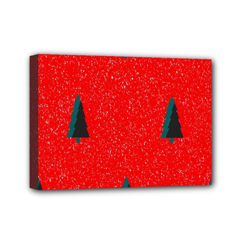 Christmas Time Fir Trees Mini Canvas 7  X 5  (stretched)
