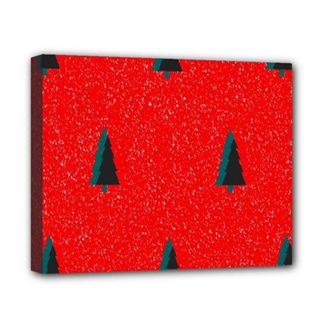 Christmas Time Fir Trees Canvas 10  X 8  (stretched)