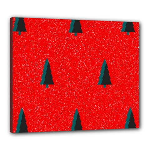 Christmas Time Fir Trees Canvas 24  X 20  (stretched)