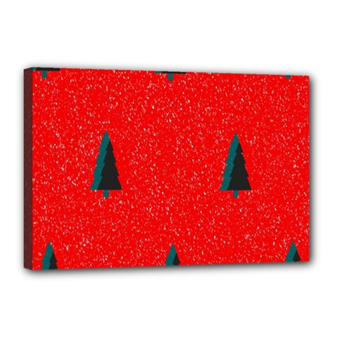 Christmas Time Fir Trees Canvas 18  X 12  (stretched)