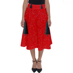 Christmas Time Fir Trees Perfect Length Midi Skirt