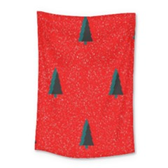 Christmas Time Fir Trees Small Tapestry