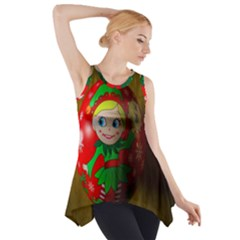 Christmas Wreath Ball Decoration Side Drop Tank Tunic by Wegoenart